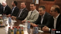 """Средба на претседателот на ВМРО-ДПМНЕ Никола Груевски со политичките партии од коалицијата """"За подобра Македонија"""",24.10.2016."""