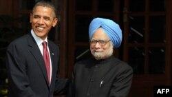 Манмохан Сингх с Бараком Обамой