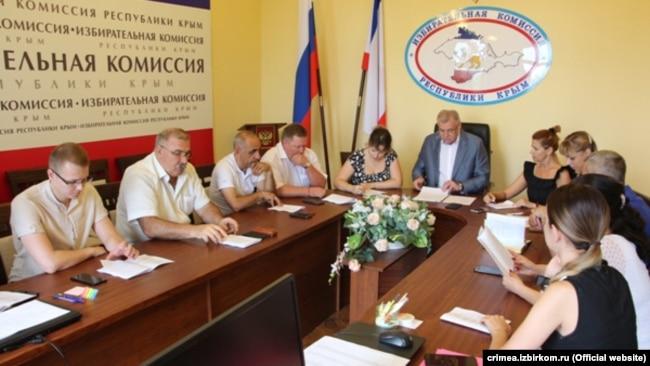 Члены российского избиркома Крыма