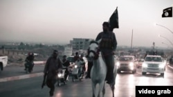 The new Islamic State video has some oddly whimsical moments, such as a scene showing a militant riding victoriously into Mosul on horseback.