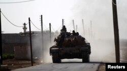 Suriyada Türkiyə tankı.