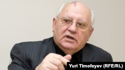 Михайло Горбачов під час інтерв'ю для Радіо Свобода, 20 жовтня 2009 року.