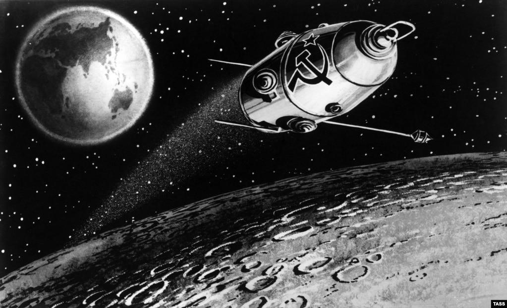 """Миссия """"Луны-10"""" была приурочена к Съезду КПСС. Она должна была транслировать советский гимн с лунной орбиты. Но технический сбой поверг инженеров в панику. Прошло немало времени перед тем, как правда всплыла: гимн на лунной орбите, которому так аплодировали, был записью."""