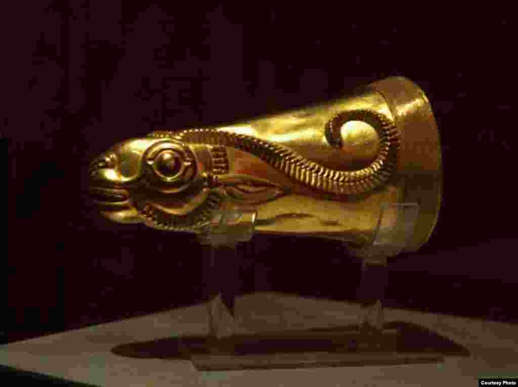 Iran -- Persian artifact: Rhyton in form of mountain goat, first millennium BC, Ziwiye, Kurdistan