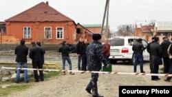 Сцена нападения на Хамзата Чумакова в Ингушетии в 2016 году (архивное фото)