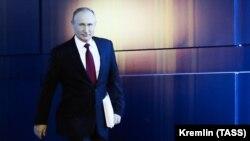 Президент РФ Владимир Путин перед выступлением 15 января 2020 г.