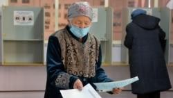 Один из избирательных участков в Кыргызстане, 10 января 2021 г.