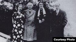 Bela Bartok & Constantin Brailoiu cu soțiile la Budapesta în 1937