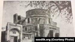 Вот как выглядела мечеть «Кок-Гумбаз» («Голубой купол») в Шахрисабзе в 1979 году. Фото взято из Советской энциклопедии.