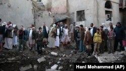 Pamje nga zonat e shkatërruara në Jemen.