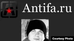 Сообщение о смерти Константина Лункина на сайте АНТИФА
