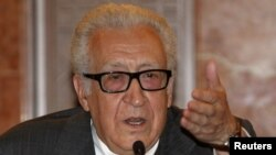 Lakhdar Brahimi, the UN-Arab League envoy to Syria (file photo)