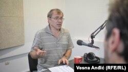 Tomislav Živanović u beogradskom studiju RSE, septembar 2018.