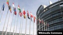 Avropa Parlamentinin binası (arxiv fotosu)