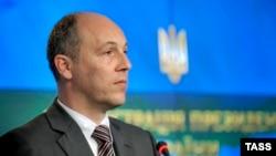Украина ұлттық қауіпсіздік және қорғаныс кеңесінің хатшысы Андрей Парубий. Киев, 16 маусым 2014 жыл.