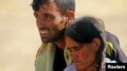 Իսլամիստ զինյալների կողմից տեղահանված եզդիներ Իրաքում, 11-ը օգոստոսի, 2014թ․