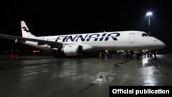 Самолет Finnair в международном аэропорту Казани