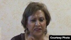 الفنانة ناهدة الرماح تتحدث في ندوة بستوكهولم