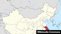 Провинция Цзянсу на карте Китая.