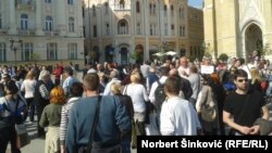 """Protest """"Dajem crveni karton"""" u Novom Sadu, ilustrativna fotografija"""