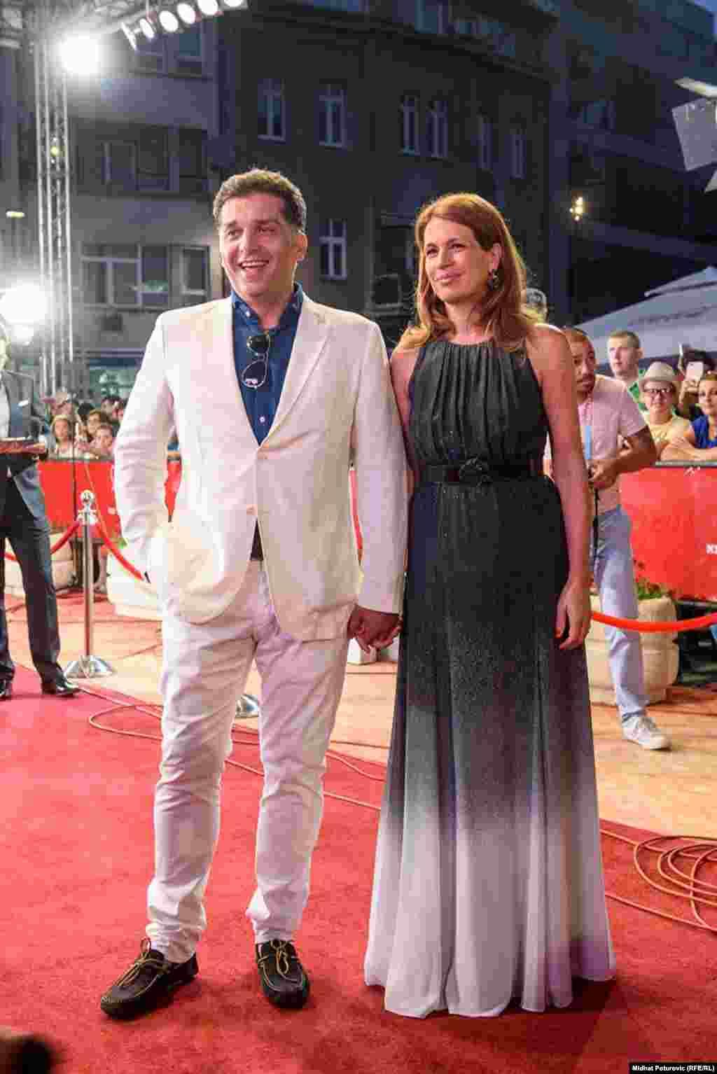 Bosanskohercegovački redatelj Danis Tanović i njegova supruga Maelys de Rudder Tanović