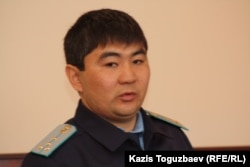 Адилет Куандыков, старший помощник прокурора Бостандыкского района. Алматы, 18 апреля 2014 года.