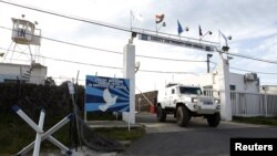 Vozilo UN-a blizu prelaza između Sirije i Izraela