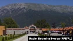 Туристичкиот комплекс Свети Наум во Охрид.