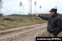 Высечаная дзялянка бяз дрэваў на сотні гектараў