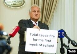 Представник ОБСЄ Мартін Сайдик на попередній зустрічі контактної групи в Мінську