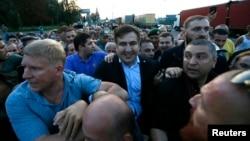 Михаил Саакашвили на польско-украинской границе. 10 сентября 2017 года