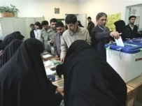 Voting in Tehran on March 14