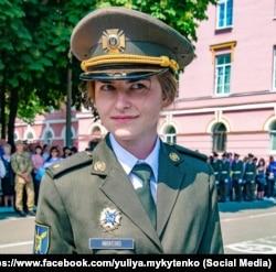 Цього року Юлія Микитенко стане командиром першого в історії військового ліцею ім. І. Богуна взводу дівчат