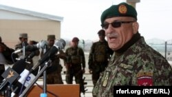 File photo of General Sher Mohammad Karimi, Afghan chief of Army staff, during a visited to Paktia this year.