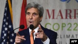 U.S. Secretary of State John Kerry was one of the speakers at the climate talks in Marrakesh.
