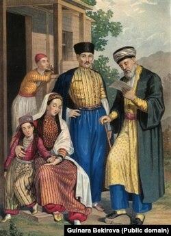 Г. Паулі. Сім'я кримських татар і мулла. 1862 рік