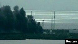 Ракета Falcon 9 в момент взрыва