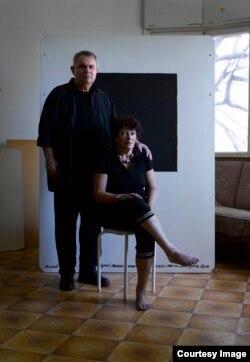 Михаил Гробман и Ирина Врубель-Голубкина, Израиль