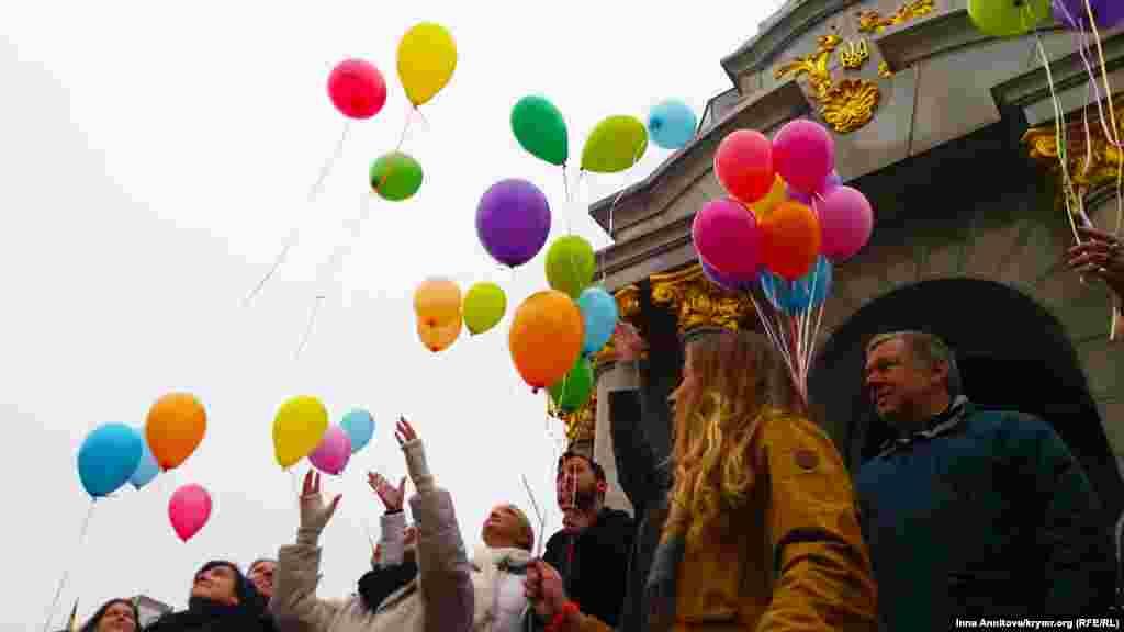 Акція на підтримку політв'язнів у день народження Геннадія Афанасьєва, 8 листопада 2016 року