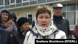 """Зейнет Кабылдакызы, председатель ЖСК """"Тулпар-8"""". Астана, 22 апреля 2014 года."""