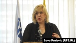 Montenegro - OSCE Representative on Freedom of the Media Dunja Mijatović, Podgorica, 2Jul2014.