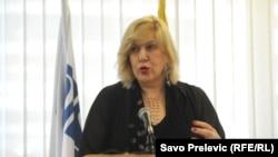 Montenegro - OSCE Representative on Freedom of the Media Dunja Mijatović, Podgorica, 2Jul2014.