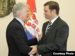 Robert Kuper i Borko Stefanović, oktobar 2011.