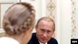 Юлія Тимошенко і Володимир Путін. 2 жовтня 2008 р.