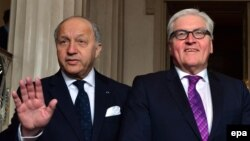 Laurent Fabius və Frank-Walter Steinmeier