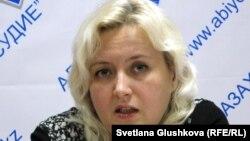 Адвокат Елизавета Ахметова. Астана, 11 октября 2013 года.