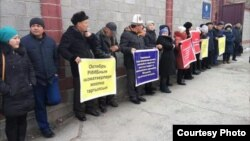 Пикет против пыток в Бишкеке. 23 января 2018 года.