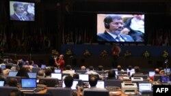 Мохаммед Мурси подверг резкой критике режим сирийского президента Башара Асада, Тегеран, 30 августа 2012