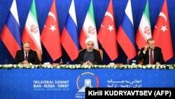 Ռուսաստանի, Իրանի և Թուրքիայի նախագահների համատեղ ասուլիսը Թեհրանում, 7-ը սեպտեմբերի, 2018 թ․