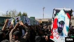 مراسم تشییع اجساد سه نیروی لشکر فاطمیون در کرمان